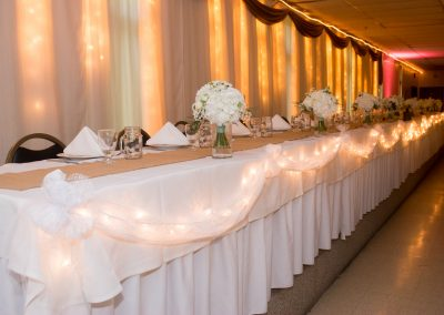The Park Ballroom - Wedding head table